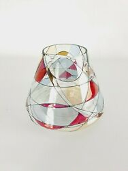 Partylite Stained Glass Mosaic Art Glass Candle Globe Cover Shade