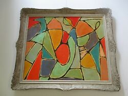 Large Giant Original Painting Modernism Modernist Abstract Cubist Cubism Shapes