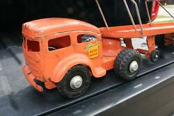 Lincoln Toys Car Carrier Transporter Truck And Trailer - Canada - Pressed Steel