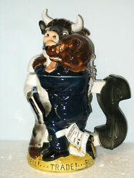Bull And Bear Limited Edition Collectible Beer Stein 6078