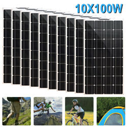 1000w Flexible Portable Solar Panel 10x100w For Rv/camping/power Station/boat Us