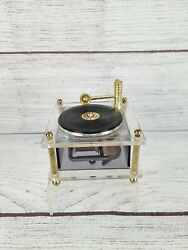 Clear Music Box Vintage Turntable Pre Owned Works