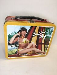 Rare Bettie Page Metal Vintage Lunchbox, Collectible Antique, No Thermos