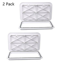 2 Packs White Boat Deck Hatch Access Hatch And Lid 24 X 14 - White Rubber Seal