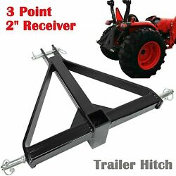 2 Receiver 3 Point Trailer Hitch Category 1 Tractor Tow Drawbar Adapter