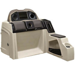 Pontoon Boat Steering Console 180695-01   51 1/4 Inch Taupe Scratch