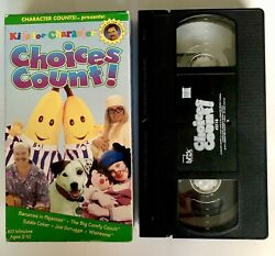 Kids for Character Choices Count VHS 1997 Bananas In Pajamas Big Comfy Couch VTG $18.99