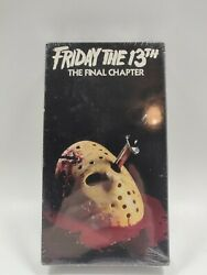 Friday The 13th 4 The Final Chapter Iv Vhs Rare Factory Sealed Igs Ready Htf