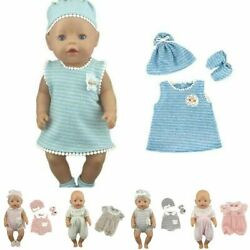 Lovely Doll Jump Suits Fit For 43cm Baby Doll 17 Inch Reborn Clothes Set Kids