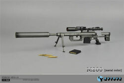 Zytoys 16 Zy15-11 Plastic M200 Sniper Rifle Gun Toy F 12 Action Figure