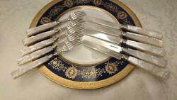 George R Unite Cutlery Set Sterling Silver Mother Of Pearl Knife Fork 1867-68