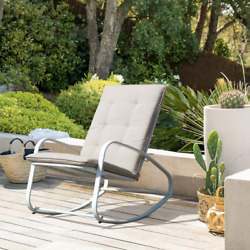 Oc Orange-casual Patio Rocking Chairs Outdoor Metal Rocker With Removable Paded