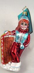 Radko Snow Day Darling Cute Girl And Sled Winter Sports Ornament New Made Poland