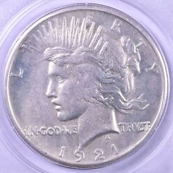1921 Peace Silver Dollar High Relief - Pcgs Ms63 Rattler