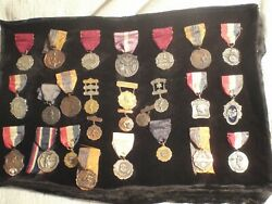 Collection Swedish American Athletics Association Medals