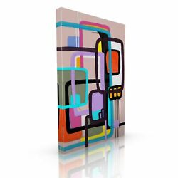 Divine Touch Moon People Abstract Modern Canvas Wall Art