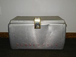 Vintage Picnic Old Pepsi Cola Aluminum Ice Chest Beer Soda Cooler