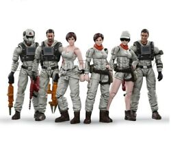 6pcs Mech Maintenance Team Action Figure Collection Quality Toy Christmas Gift