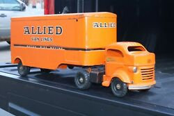 Lincoln Toys Allied Van Lines Moving Delivery Transport Truck Pressed Steel 3rd