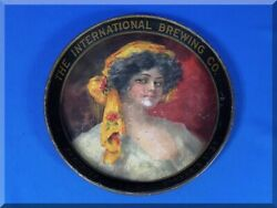 International Brewing Co Pre Prohibition Tray Beer Ale Porter Bohemian Girl Worn