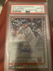 2019 Topps Chrome Update R.d. Auto Xfractor Pa Pete Alonso Rc Psa 10 43/125