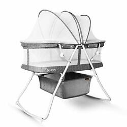 Bassinet For Baby 3 In 1 Portable Baby Bassinets Rocking Cradle Bed Ea