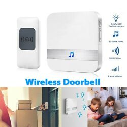 Led Wireless Chime Door Bell Doorbell And Wireles Remote Control 32 Tune Songs