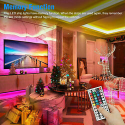 16.4ft Rgb Flexible Led Strip Light Smd Remote Fairy Lights Room Tv Party/bar