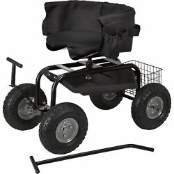 Strongway Deluxe Rolling Garden Seat With Easy Change Turnbars