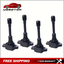 Pack 4 Ignition Coils For Nissan Altima Rogue Sentra Infiniti Fx50 M56 52-2108