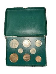 Coins Of Ireleand 1952-1956 Full 8 Coin Set. All Coins Good Condition