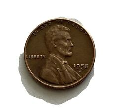 1958-d - Us Lincoln Wheat Rare Penny Coin Collectible