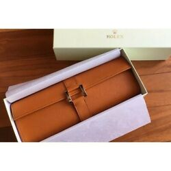 Rolex Novelty Gift Genuine Made Of Leather For Pieces Watch Case Storage Porch