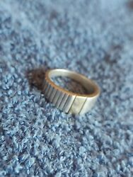 Cto Signed 14k Yellow Gold Sterling Silver 925 Ring Sz 10.25 8.7 G Cp712