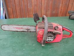 Vintage Homelite 330 Chainsaw Chain Saw With 16 Bar