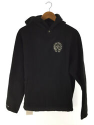 Chrome Hearts Cross Button Fleece Hoodie/size M/polyester/blk/tagged Menswear
