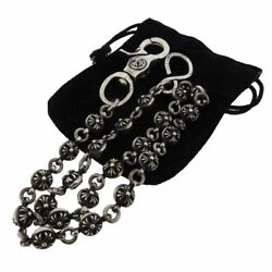 Chrome Hearts/chrome Hearts Old Model 1 Clip Long 2 Cross Ball Wallet Chain Size