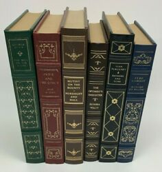 The Franklin Library Lot Of 6 Classic Books Leather Bound Pride Prejudice