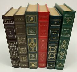 The Franklin Library Lot Of 6 Classic Books Leather Bound Robert Frost Sherlock
