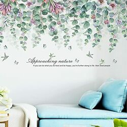 Green Leaves Wall Stickers Wall Decal Stickers DIY Removable Flowers Vine