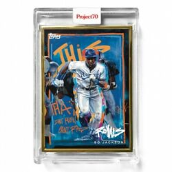 Topps Project 70 449 Bo Jackson By Chuck Styles 1/1 Gold Frame Rare And In Hand