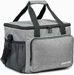 OMOVEE Cooler Bag 30L 40 cans Collapsible Beach Cooler Bag Portable Soft Larg $31.97