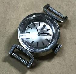 Omega Cut Glass K14wg White Gold Bf511.5254 Womenand039s Watches Cal.484 Vintage
