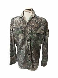 Sports Afield Menand039s Real Tree Cotton Button-down Hunting Shirt Size M / L