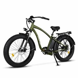 750w Electric Bike Bicycle 26fat Tire 48v 13ah Battery Maxfoot Mf18 Lcd Display