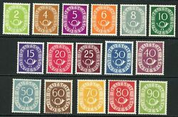 Germany / West 1951-52 Sg.1045-1060 U/m With Certificate