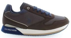 U.s. Polo Assn. Nobil Men's Sneakers Shoes Casual In Brown And Blue New