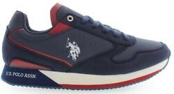 U.s. Polo Assn. Nobil Men's Sneakers Shoes Casual In Navy And Red New
