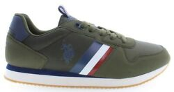 U.s. Polo Assn. Nobil Men's Sneakers Shoes Casual In Dark Olive Green New
