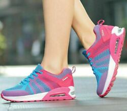 Womenand039s Sport Air Cushion Running Shoes Breathable Mesh Tennis Walking Sneakers